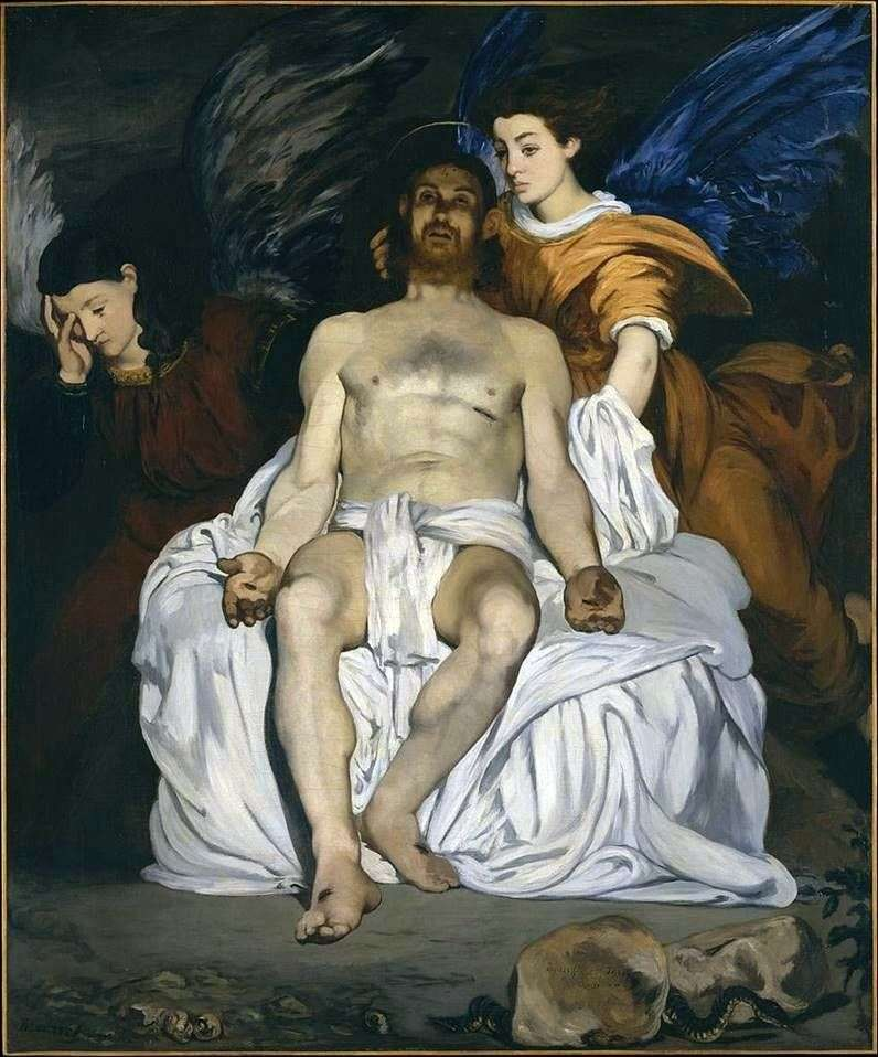 Chrystus z aniołami   Edouard Manet