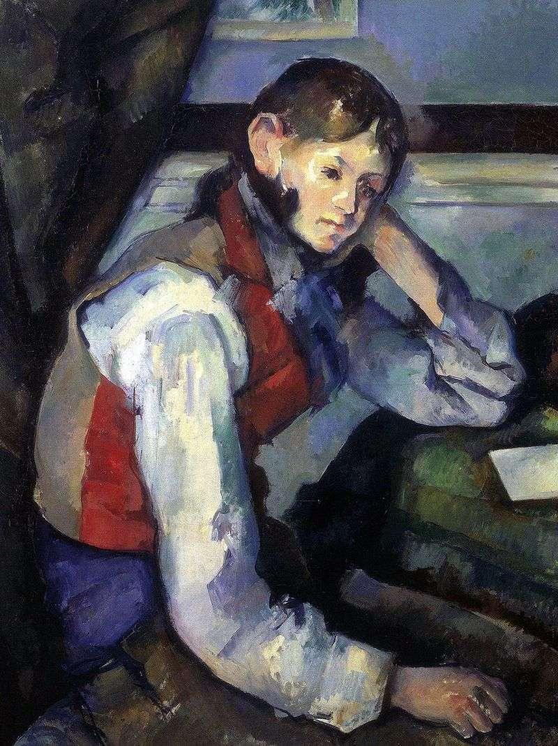 Chłopiec w czerwonej kamizelce   Paul Cezanne