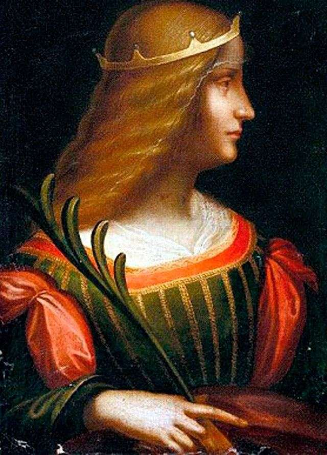 Portret Isabella de Este   Leonardo da Vinci