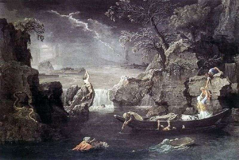 Zima Powódź   Nicolas Poussin