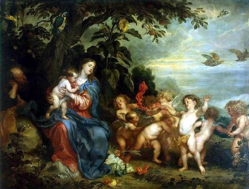 Odpoczywaj podczas lotu do Egiptu   Anthony Van Dyck