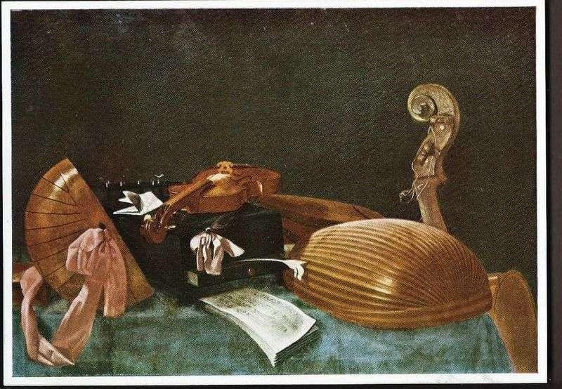 Martwa natura z instrumentami muzycznymi   Evaristo Baschenis