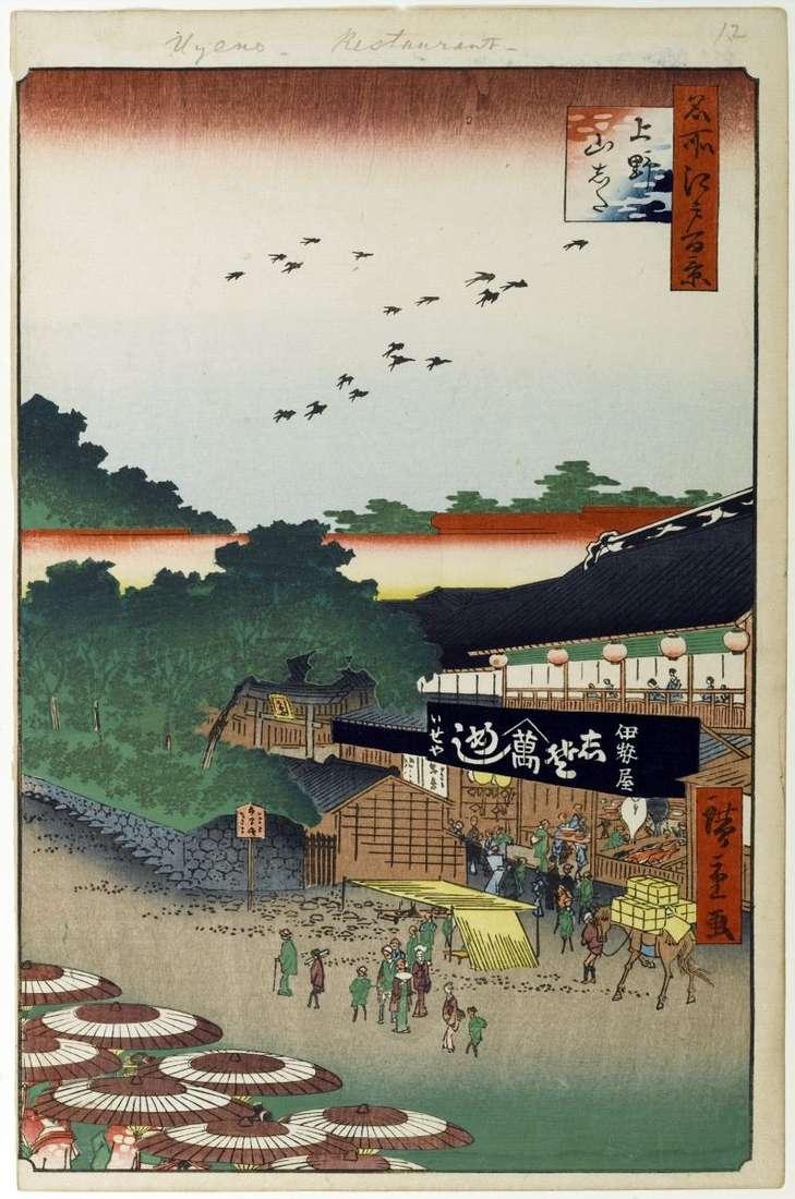 Obszar Yamashita w Ueno   Utagawa Hiroshige
