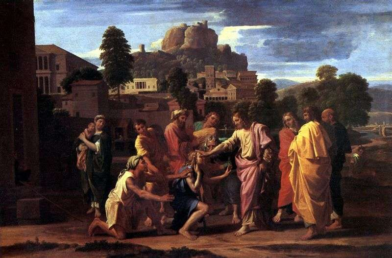 Healing the Blind   Nicolas Poussin