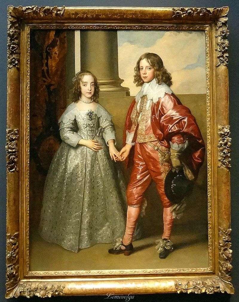 Portret Williama Orange z jego narzeczoną Marią Stewart   Anthonym Van Dyckiem