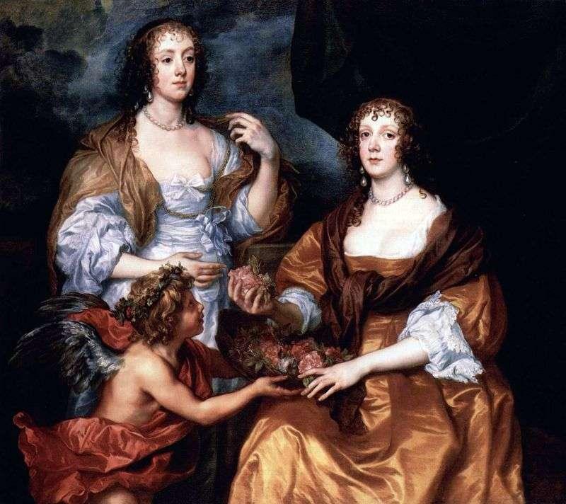 Portret Lady Elizabeth Timblbi i Dorothy Viscountess Andover   Anthony Van Dyck