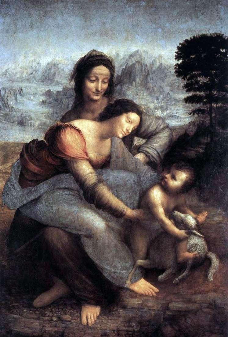 Święta Anna i Maryja z Dzieciątkiem   Leonardo Da Vinci