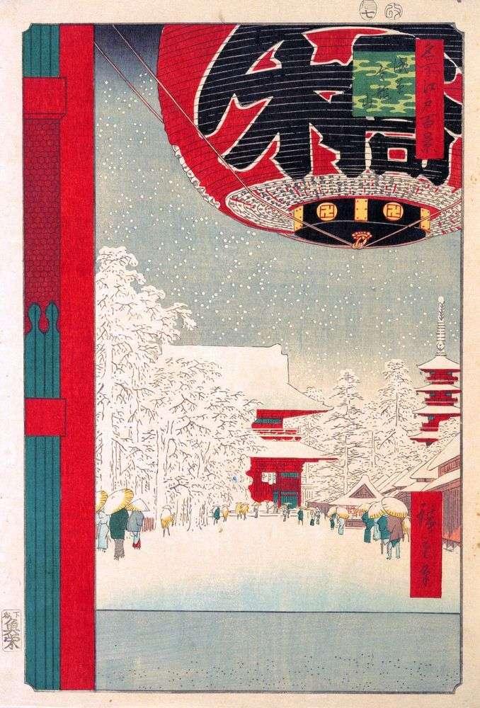 Klasztor Kinryuzan w Asakusa   Utagawa Hiroshige