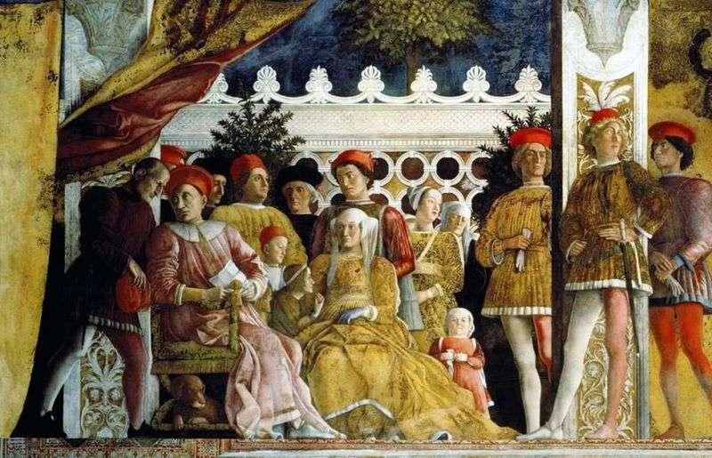 Ludovico Gonzaga, jego rodzina i podwórko   Andrea Mantegna