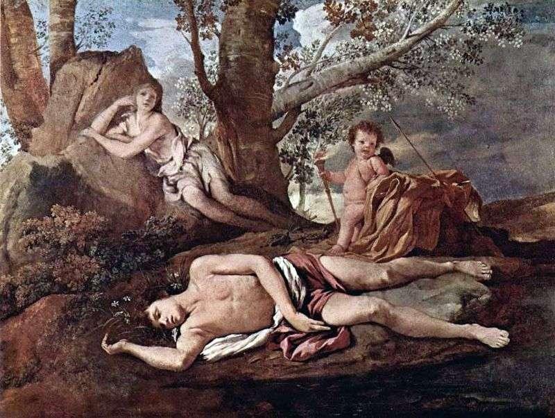 Narcyza i Echo   Nicolas Poussin