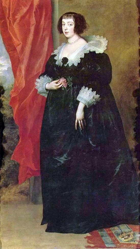 Portret Małgorzaty Lotaryńskiej   Księżna Orleanu   Anthony Van Dyck