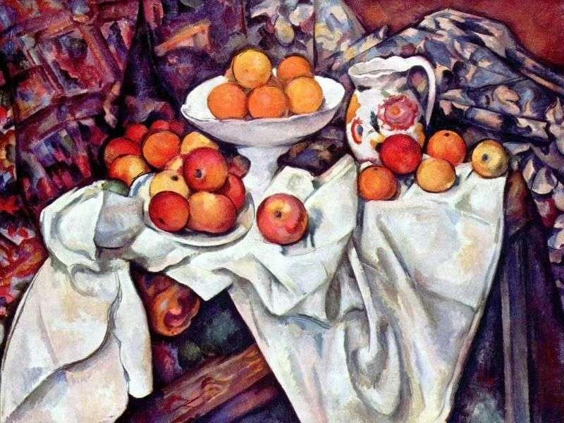 Martwa natura z jabłkami i pomarańczami   Paul Cezanne