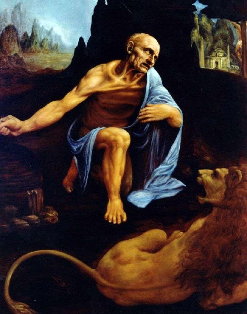 Święty Jerome   Leonardo Da Vinci