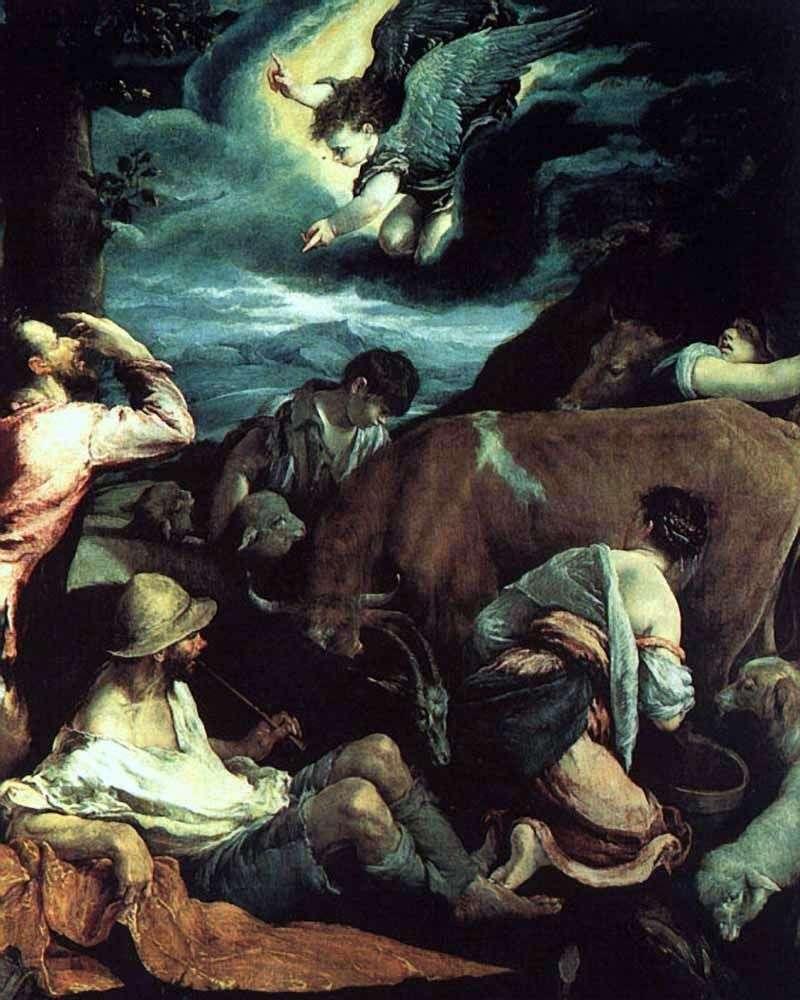 Zwiastowanie pasterzom   Jacopo Bassano