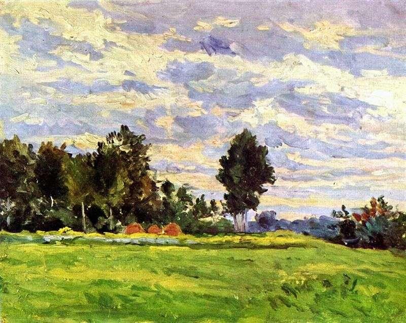 Krajobraz w Ile de France   Paul Cezanne