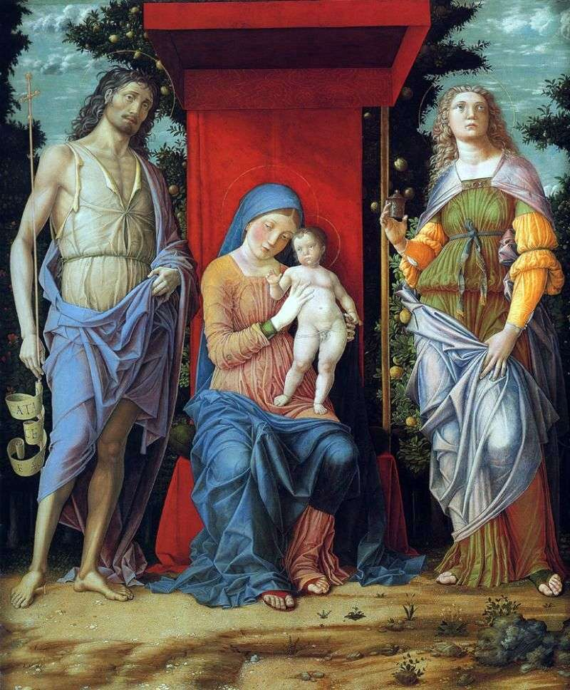 Madonna z Dzieciątkiem   Andrea Mantegna