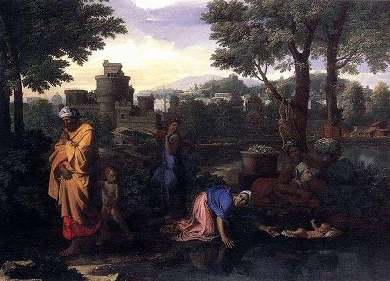 Porzucenie Mojżesza w Nilu   Nicolas Poussin