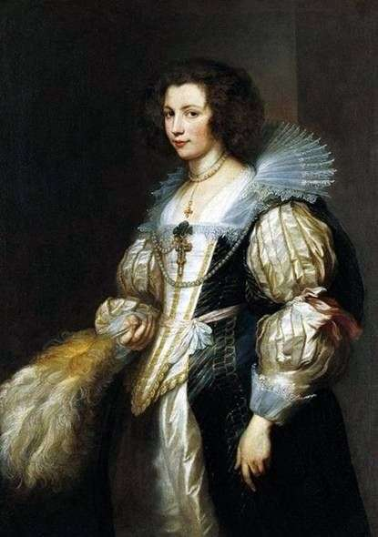 Portret Maria Louise de Tassis   Anthony Van Dyck