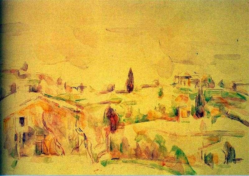 Krajobraz w Prowansji   Paul Cezanne