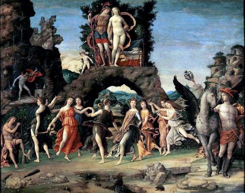Mars i Wenus, czyli Parnas   Andrea Mantegna