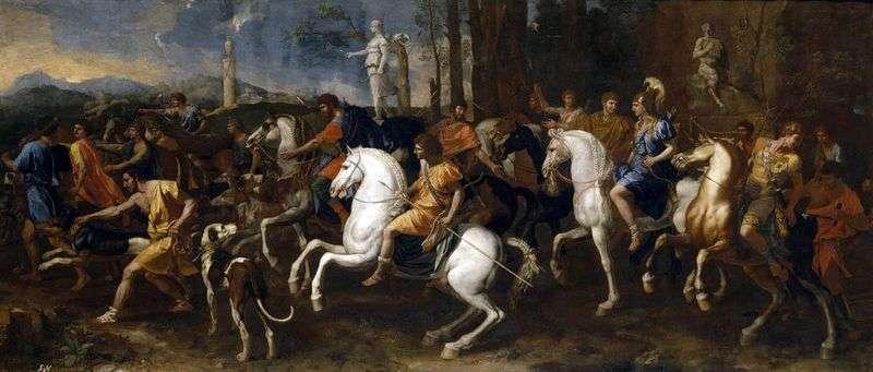 Polowanie na Meleagrę i Atalantę   Nicolasa Poussina