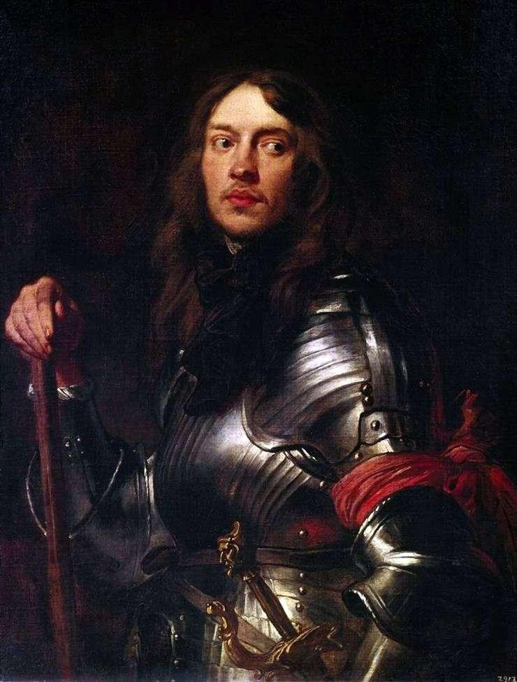 Portret rycerza z czerwoną opaską   Anthony Van Dyke