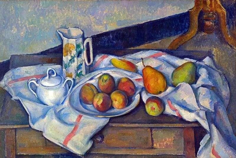 Brzoskwinie i gruszki   Paul Cezanne