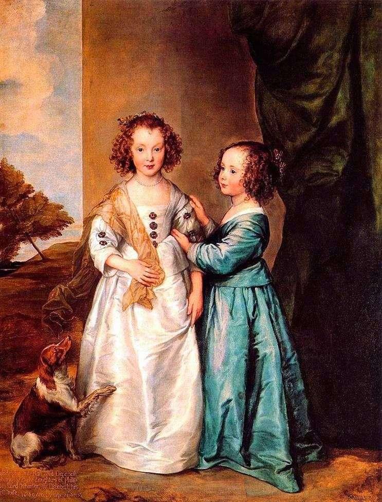 Portret Carey Sisters   Anthony Van Dyke