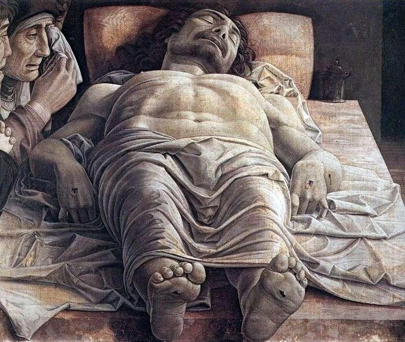 Opłakiwanie zmarłego Chrystusa   Andrea Mantegna