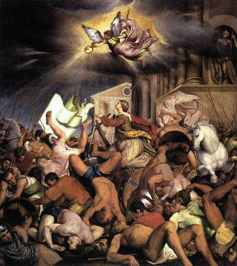 Męczeństwo św. Katarzyny   Jacopo Bassano