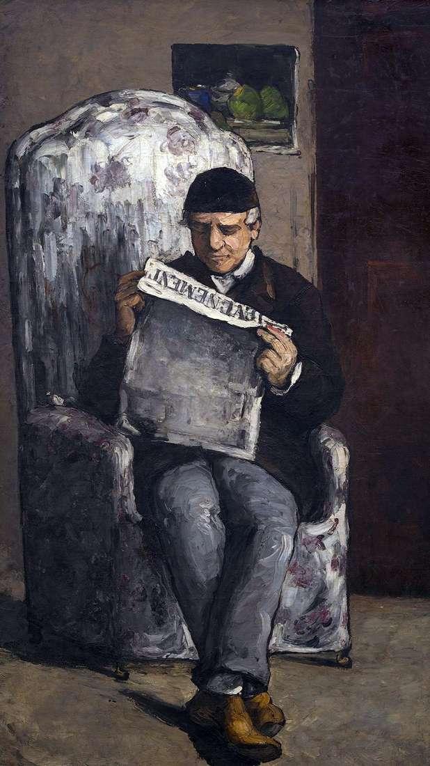 Portret Louisa Auguste Cezanne, ojca artysty, czytającego Evenman   Paula Cezannea