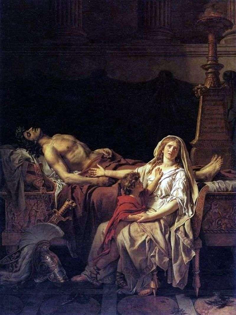 Andromacha w ciele Hectora   Jacques Louis David