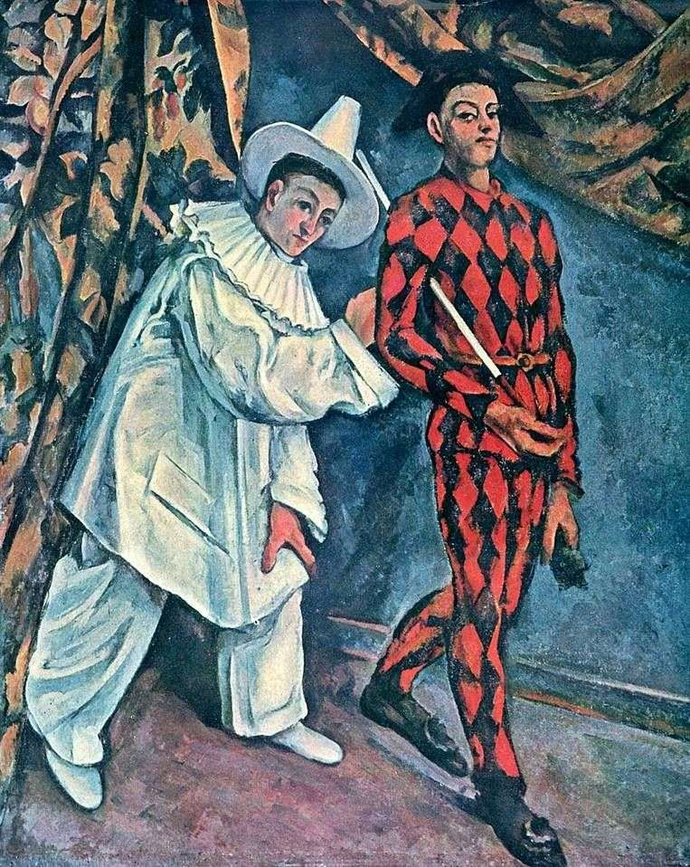 Pierrot i Arlekin (Maslenitsa)   Paul Cezanne