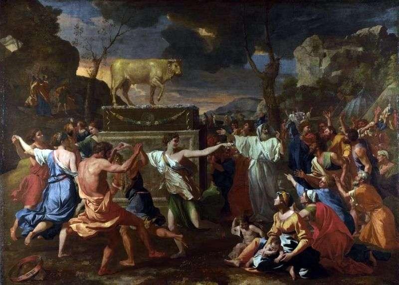 Tańcz wokół złotego cielca   Nicolasa Poussina