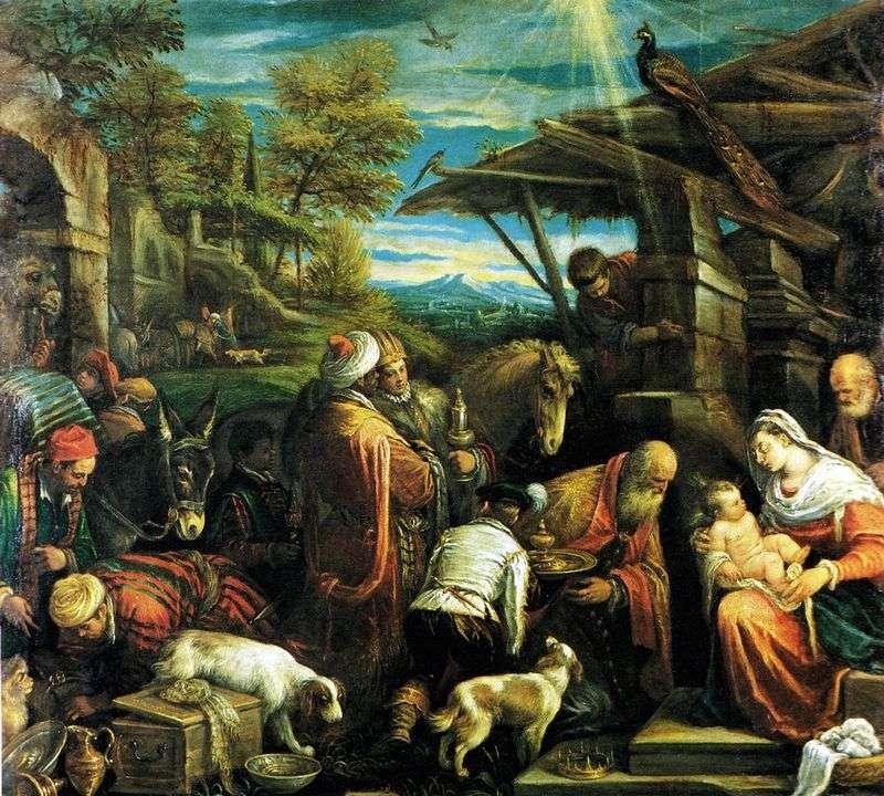 Pokłon Trzech Króli   Jacopo Bassano