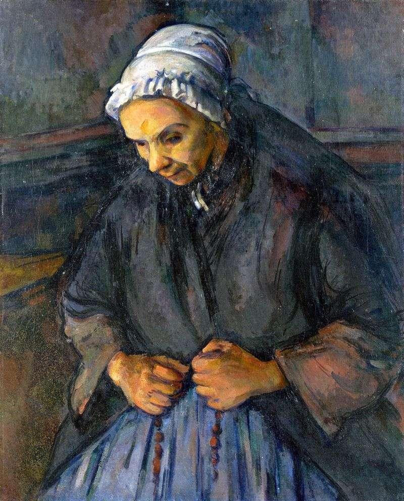 Stara kobieta z różańcem   Paul Cezanne