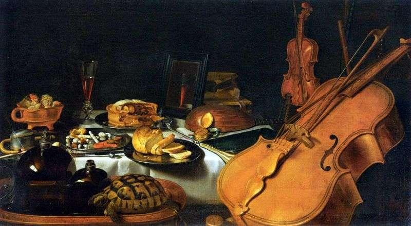 Martwa natura z instrumentami muzycznymi   Peter Claes