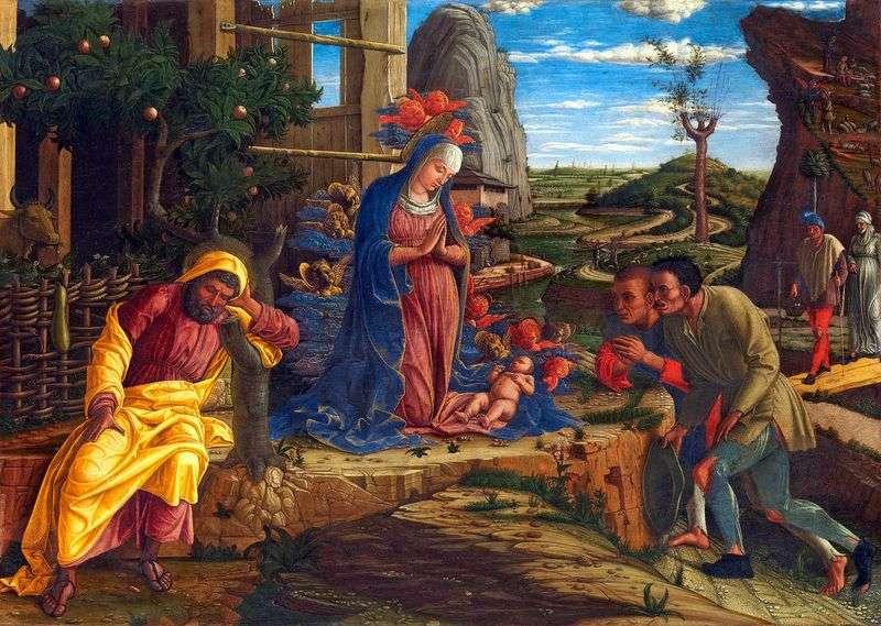 Adoracja pasterzy   Andrea Mantegna