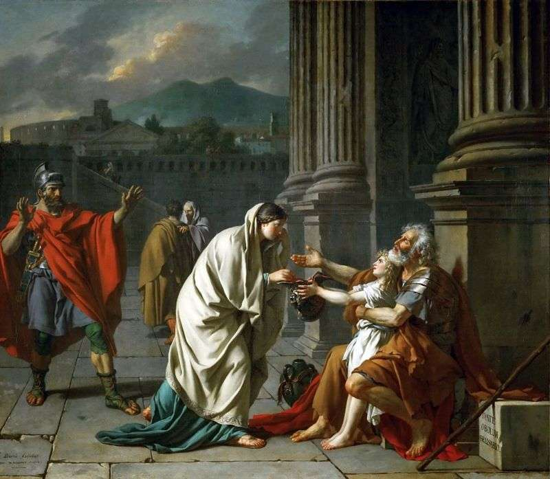 Belizariusz błagający   Jacques Louis David