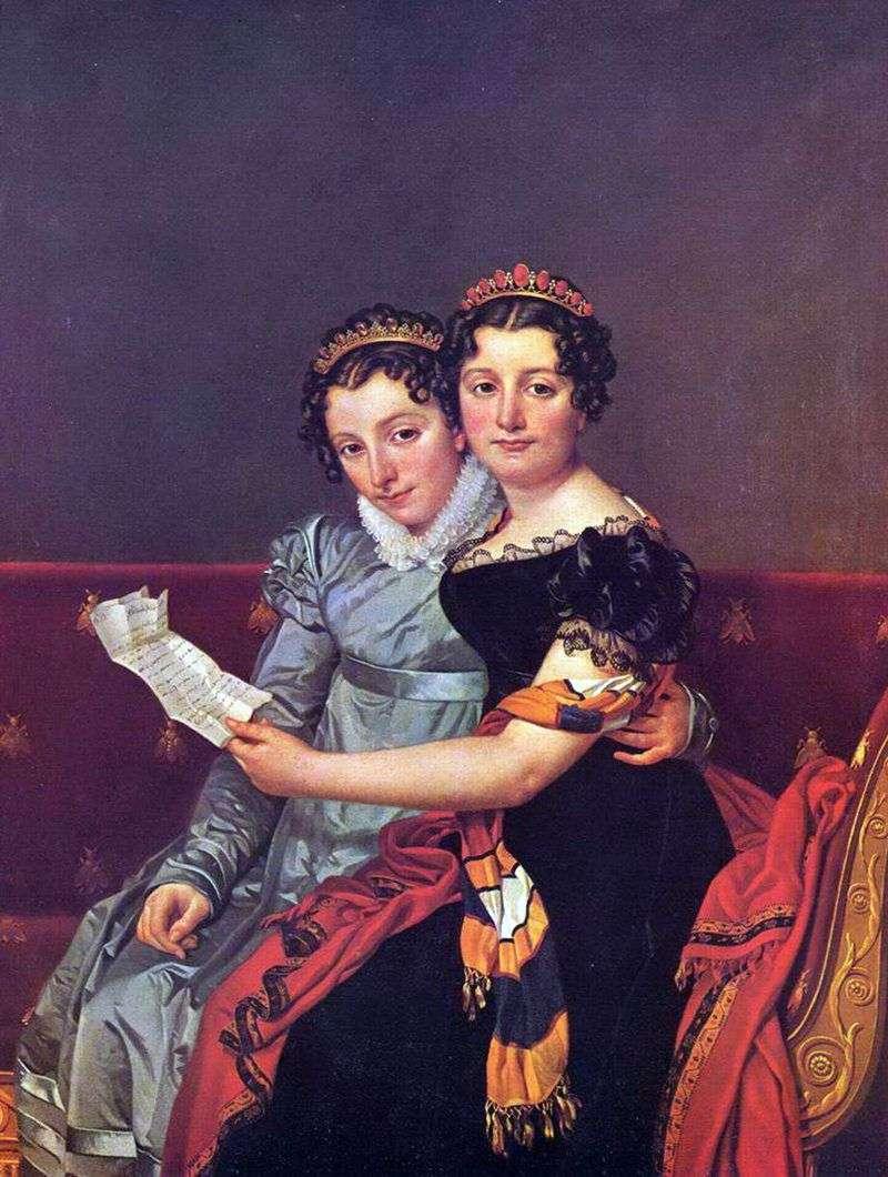 Zinaida i Charlotte Bonaparte   Jacques Louis David