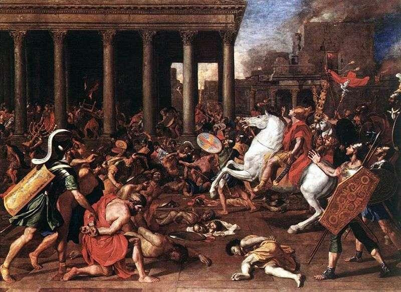 Zniszczenie świątyni w Jerozolimie   Nicolas Poussin