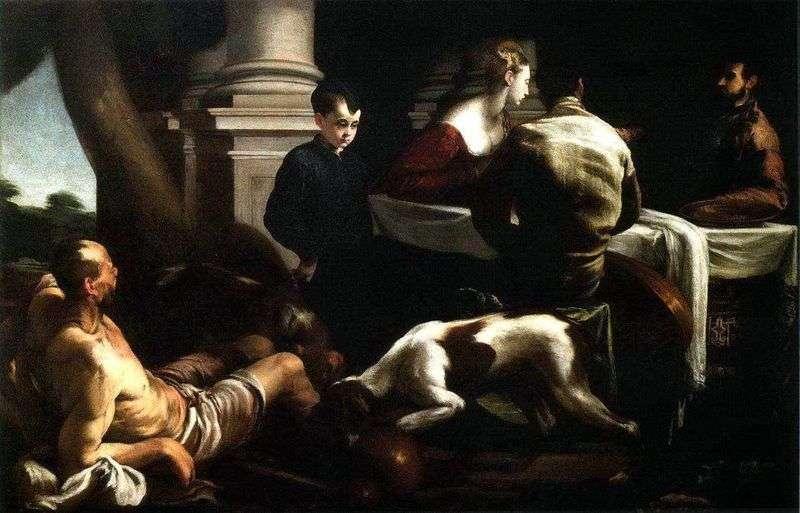 Przypowieść o bogatym i biednym Łazarzu   Jacopo Bassano