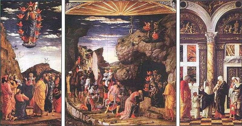 Tryptyk z Pokłonem Trzech Króli   Andrea Mantegna