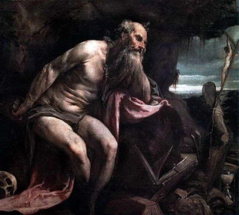 Święty Hieronim na pustyni   Jacopo Bassano