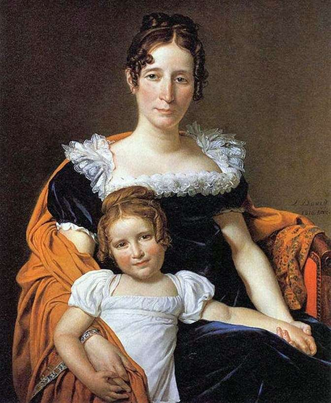 Kontessa Vileyn XIIII z córką   Jacques Louis David