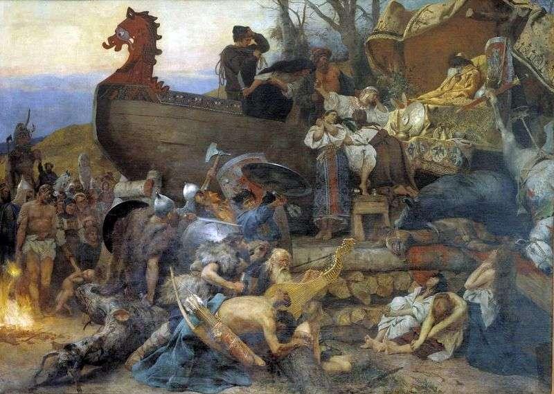 Pogrzeb szlacheckiej Rusi   Heinrich Semiradsky