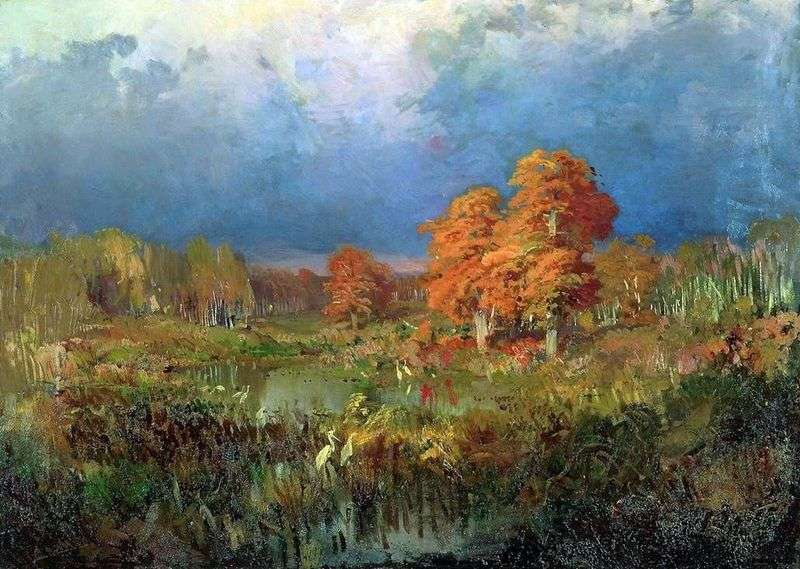 Bagno w lesie. Jesień   Fedor Vasilyev