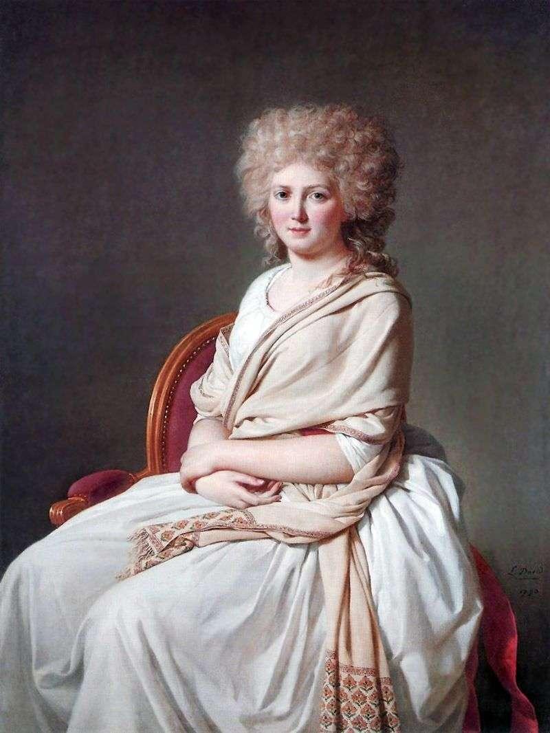 Contessa de Sorsey Anna Marie Felucienne   Jacques Louis David