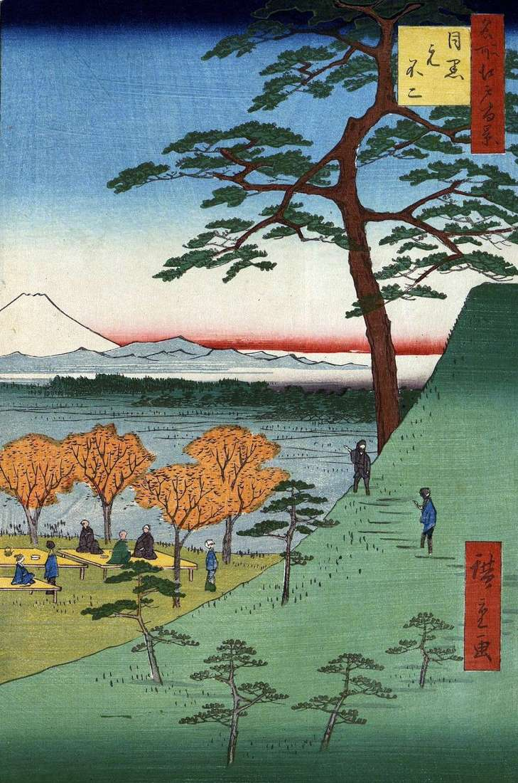 Motofuji w Meguro   Utagawa Hiroshige