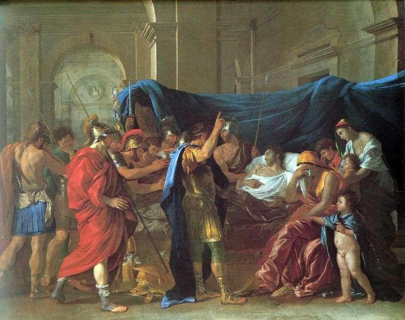 Śmierć Germanika   Nicolas Poussin